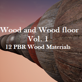 A pack of 12 Wood and Wood Floor PBR materials.