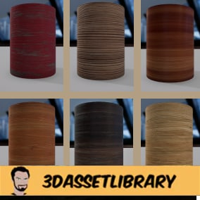 8 Unique 4K PBR Wood Textures complete with 3 different variations of each