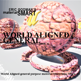 A Set of 27 smart master materials with world aligned options and high customization features for general purpose material instances, featuring mobile materials, PC materials, bump offset, and tessellation.