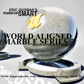 A Set of 32 smart master materials with world aligned features for marble/polished stone related material instances, featuring mobile materials, distortion and desaturation options, far field fall-off options, bump offset, tessellation options.