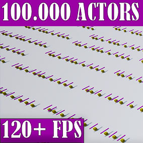 The World Director Actor plugin is ideal for creating games that have a lot of busy actors in the world at the same time.  You can model a whole world from thousands of busy actors. Plugin is easy to use. There is support for multiplayer.