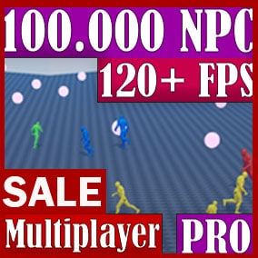 The World Director NPC - PRO plugin is ideal for creating games where there are many pawns in the world at the same time. You can simulate a whole world of thousands of pawns. You can create an entire populated city. Now with multiplayer.