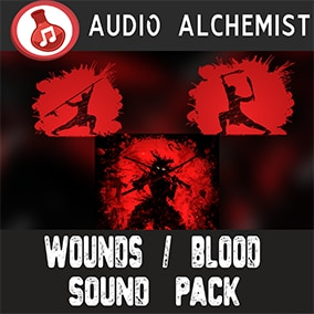 112 high-quality sound effects for wounds and blood