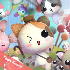 Cute 3D characters with 45 color, 36 Accessories and 17 Animations.