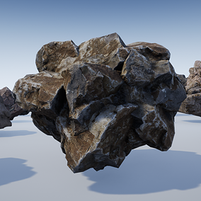 30 rocks & clusters using 4k textures, custom collisions and LODs