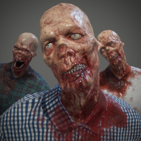 Zombie Model with 3 sets of materials