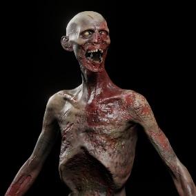 Zombie low-poly