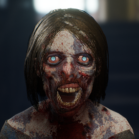 Zombie female - Character
