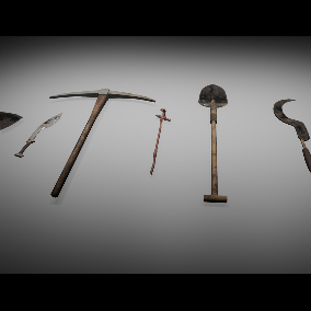 Zombie Melee Weapons Pack Low poly