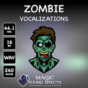 A unique library with a variety of Zombie Voice sound effects is designed to meet the highest requirements in creating audio for fantasy games and trailers.