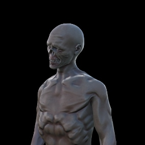 game ready low poly model of the character. zombie