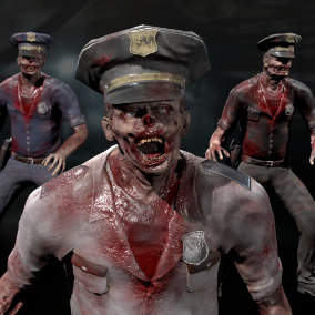 low-poly zombie character for your game