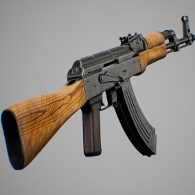 ak47 rifle with character animations FPS/TPS