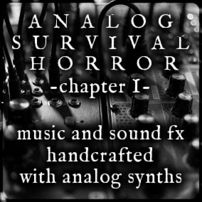 Music and sound effects for the survival horror genre. Expertly crafted with analog synthesizers, guitar pedals and vintage drum samples.