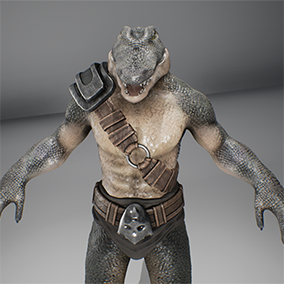 Game character Anthropomorphic Crocodile.