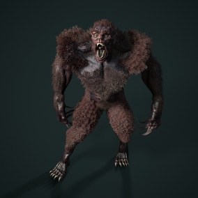Low-poly model of the character Werewolf