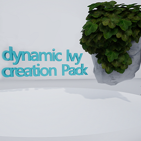 Dynamic ivy creation pack, with multiple foliage brushes and dynamic interactive elements.