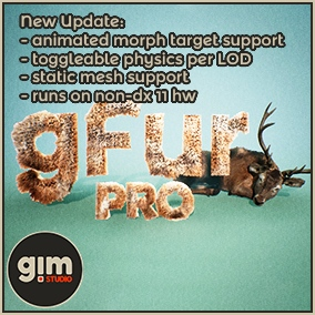 gFur PRO is an advanced version of our free gFur plugin for shell based fur generation.
