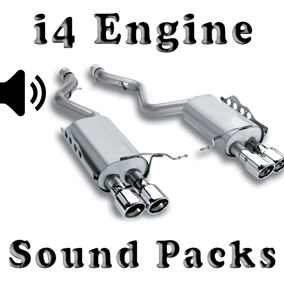 i4 Engine Sound Packs asset contain three engine sound packs.