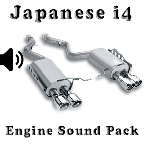 i4 Japanese - Engine Sound Pack asset contain engine sound wav files.