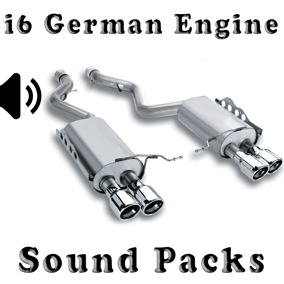 i6 German Engine Sound Packs asset contain three engine sound packs.