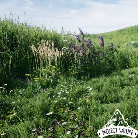 This foliage collection is all you need to create a realistic, dynamic moving and natural looking grassland environment.