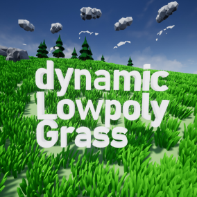 Game ready Lowpoly Grass Asset with realistic Wind Movement