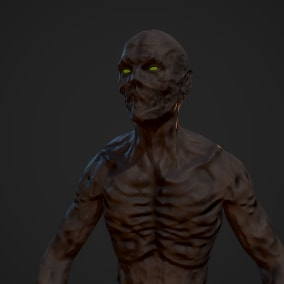 Game ready low poly model