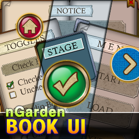 Book UI for casual game