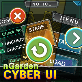 Cyber UI for casual game