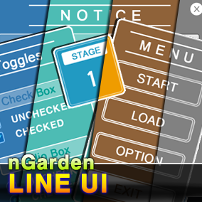 Line UI for casual game