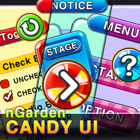 Candy UI for casual game
