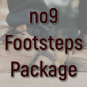 Wide palette of footsteps recorded in natural environments like forest, meadow, grass, thickets, leafs, hay, straw, snow, ice, water, puddle, mud, road, tarmac, stones, sand, dirt, construction site, metal, steel, glass, wood, pier, wooden deck, cartoon.