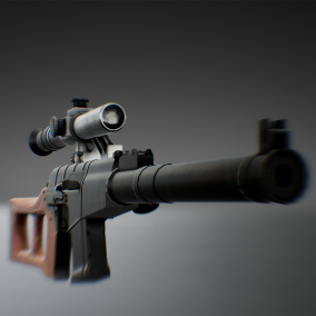 vss sniper with character animations